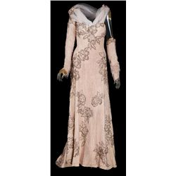 """Lynn Bari """"Bernice Croft"""" pale pink beaded gown designed by Helen Rose from Hello Frisco, Hello"""