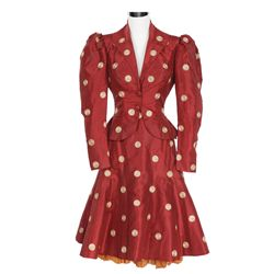 June Havoc rust silk skirt and jacket designed by Helen Rose from Hello Frisco, Hello