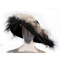 """Alice Faye """"Trudy Evans"""" black velvet period hat designed by Helen Rose from Hello Frisco, Hello"""