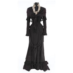 """Jessica Tandy """"Louise Kane"""" black period dress designed by Irene from The Valley of Decision"""