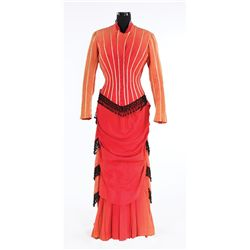 """Greer Garson """"Mary Rafferty"""" red period dress designed by Irene from The Valley of Decision"""
