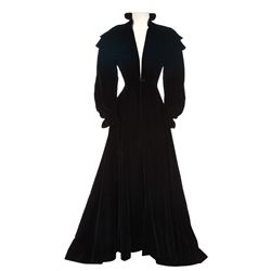 """Donna Reed """"black velvet period coat designed by Irene from The Picture of Dorian Grey"""
