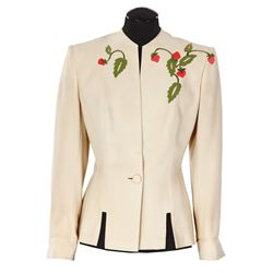 """Myrna Loy """"Nora Charles"""" beige jacket designed by Irene from The Thin Man Goes Home"""