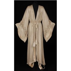 Tallulah Bankhead silver lamé robe designed by Rene Hubert from A Royal Scandal