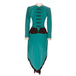 "Jeanne Crain ""Julia Rogers"" teal period dress designed by Rene Hubert from Centennial Summer"