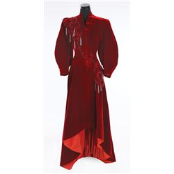 Cyd Charisse burgundy velvet dress designed by Helen Rose from The Unfinished Dance