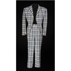 Dan Dailey blue plaid suit designed by Charles Le Maire and Orry-Kelly from Mother Wore Tights