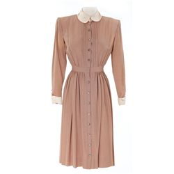 "Jennifer Jones ""Cluny Brown"" mocha dress designed by Bonnie Cashin from Cluny Brown"