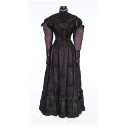 "Gladys Cooper ""Aunt Inez"" black and purple period dress designed by Tom Keogh from The Pirate"