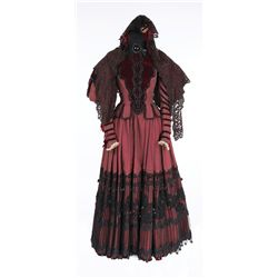 Gladys Cooper dark red and black period dress and hat designed by Tom Keogh from The Pirate