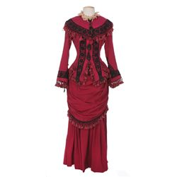 "Jane Russell ""Calamity Jane"" wine colored dress designed by Mary Kay Dodson from Paleface"