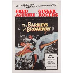 The Barkleys of Broadway original U.S. 1-sheet poster on linen