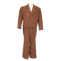 Dean Stockwell brown wool period suit designed by Charles Le Maire from Down to the Sea in Ships
