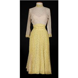 "Vera-Ellen ""Jessie Kalmar"" yellow dress designed by Helen Rose from Three Little Words"