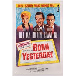 Born Yesterday reissue one-sheet poster on linen