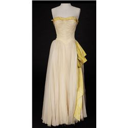 "Lana Turner ""Fredda Barlo"" pale yellow dress designed by Walter Plunkett from Mr. Imperium"