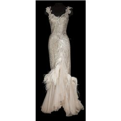 Susan Hayward ivory beaded gown designed by Charles Le Maire from With a Song in My Heart