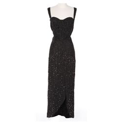 "Rita Hayworth ""Chris Emery"" black sequined dress designed by Jean Louis from Affair in Trinidad"