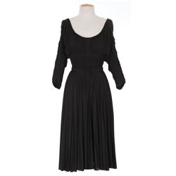 "Patricia Neal ""Joan Ross"" black dress designed by Eloise Jensson from Diplomatic Courier"