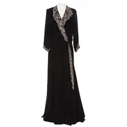 Ethel Barrymore black velvet dress designed by Eloise Jensson from Deadline U.S.A.