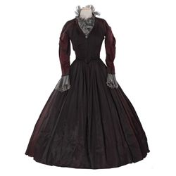Olivia de Havilland 2-piece black/burgundy iridescent period dress from My Cousin Rachel