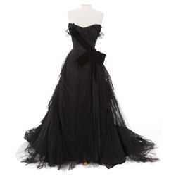 "Zsa Zsa Gabor ""Zsa Zsa"" black tulle gown designed by Adrian from Lovely To Look At"
