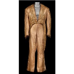 Bob Hope gold lamé beaded dance costume designed by Edith Head from Here Come the Girls