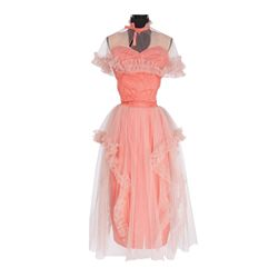 "Kathryn Grayson ""Grace Moore"" peach satin dress designed by Leah Rhodes from So This is Love"