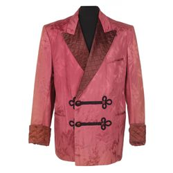 "Ezio Pinza ""Feodor Chaliapin"" rose satin smoking jacket designed by Renie from Tonight We Sing"