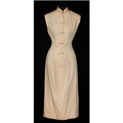 Jennifer Jones beige dress designed by Charles Le Maire from Love is a Many Splendored Thing