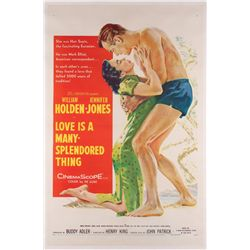 Love is a Many-Splendored Thing original 1-sheet poster on linen