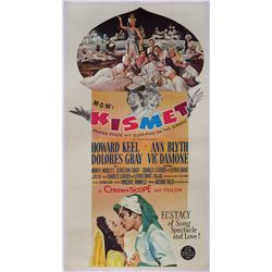 Kismet original U.S. 3-sheet poster on linen