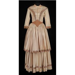 "Susan Hayward ""Katie"" ivory period dress designed by Renie from Untamed"