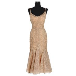 Kim Novak gold lace dress designed by Jean Louis from The Eddy Duchin Story