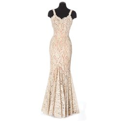 Jayne Mansfield ivory lace gown designed by Charles Le Maire from Will Success Spoil Rock Hunter?