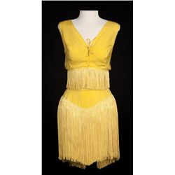 Janet Leigh 2-piece fringed goldenrod cooch dance costume designed by Pat Barto from Bye Bye Birdie