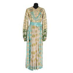 Julie Andrews turquoise harem outfit with turban designed by Donald Brooks from Star