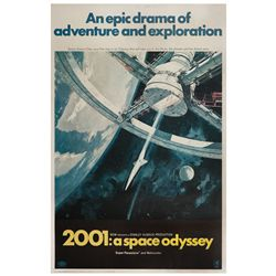 2001: A Space Odyssey original U.S. 40 x 60 poster on linen