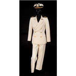 "Raquel Welch ""Myra"" naval officer uniform designed by Theadora Van Runkle from Myra Breckinridge"