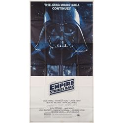 The Empire Strikes Back original U.S. 3-sheet poster folded