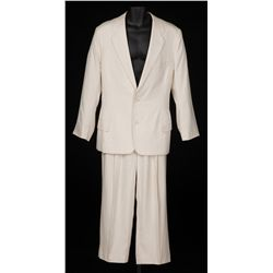 "Bill Murray ""Bunny Breckinridge"" ivory raw silk 2-piece suit designed by Colleen Atwood from Ed Wood"