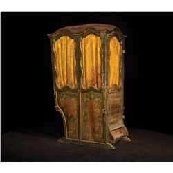 French wooden sedan chair from 1971 20th Century-Fox auction