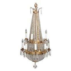 Suite of three teardrop shaped chandeliers used in numerous MGM productions