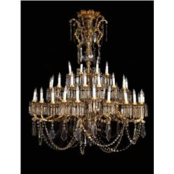 Monumental 20th century Rococo style cut glass chandeliers used in numerous MGM productions