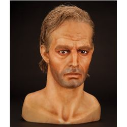 "Charlton Heston wax head and hands as ""Col. George Taylor"" from Planet of the Apes"