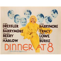 Dinner at Eight reissue U.S. half-sheet poster