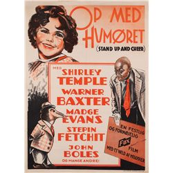 Stand Up and Cheer original Danish Shirley Temple poster