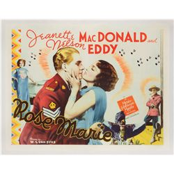 Rose Marie (1936) original U.S. half-sheet poster on linen