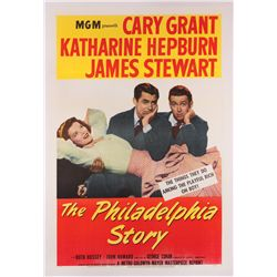 The Philadelphia Story reissue U.S. 1-sheet poster on linen