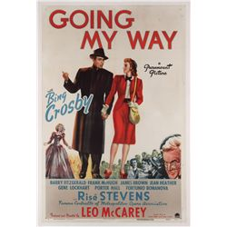 Going My Way original U.S. one-sheet poster on linen
